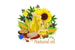 Natural oil of orgin plants and nuts