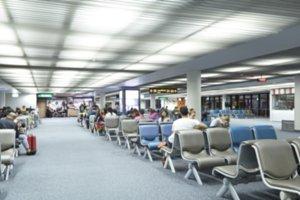 Blurred Passenger seat in terminal d