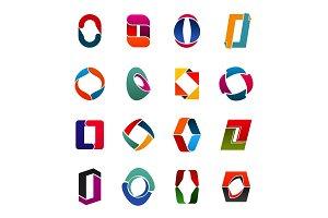 Capital O letter creative icons
