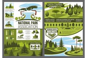 Parks and forests, landscape design