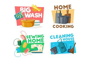 Housework cleaning, sewing, cooking