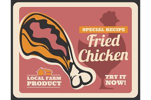 Fast food fried chicken drumstick