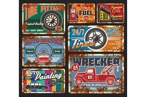 Car service and repair wrecker