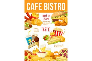 Fast food menu restaurant poster