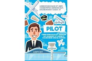 Pilot vacancy recruitment poster