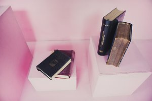 Vintage Book With Box Pink