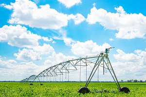 Irrigation of farmland to ensure the