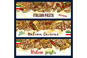 Italian pasta sketch pastry products