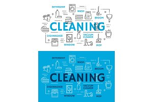 Cleaning equipment for housework