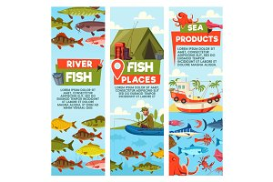 River fish and seafood products