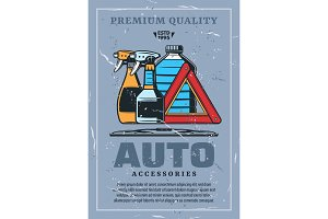 Auto accessories retro with liquids