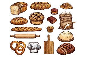 Soft bakery products sketches