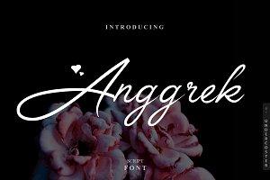 Anggrek - Script Font