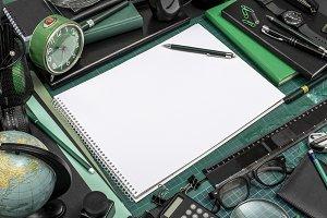 Black office sketchbook template