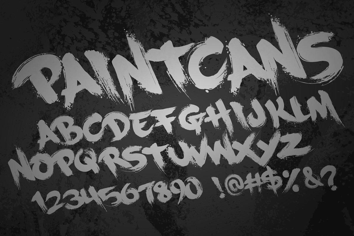 PaintCans Font