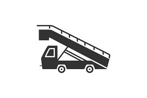 Stair truck glyph icon