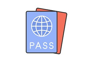 International passport color icon