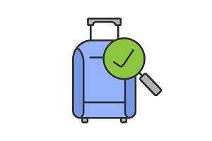 Baggage allowance color icon