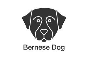 Bernese Mountain dog glyph icon