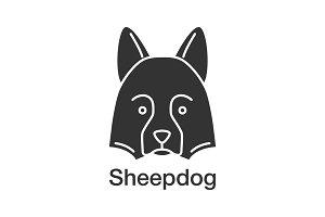 Shetland Sheepdog glyph icon