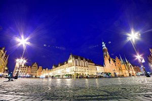 Town Hall at night, Wroclaw, Poland