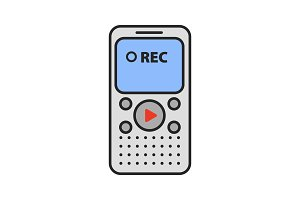Dictaphone color icon