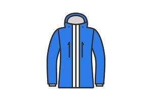 Ski jacket color icon