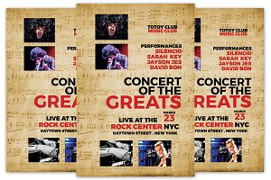 Concert of the Greats Flyer