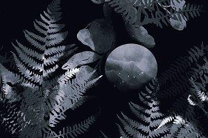 Night in tropics pattern | JPEG