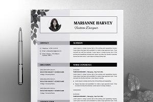 Floral Resume / CV Template