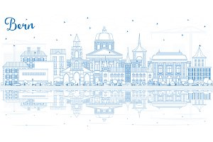 Outline Bern Switzerland City