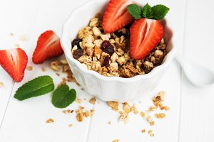 Bowl with granola