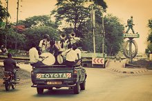 Arusha: group of young, happy men