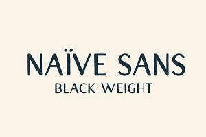 Naive Sans (Black weight)