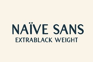 Naive Sans (extrablack weight)