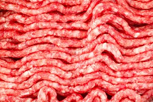 Minced marbled beef meat background