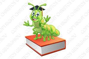 Graduate Caterpillar Bookworm Worm