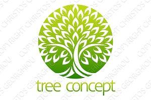 Tree Circle Icon Concept