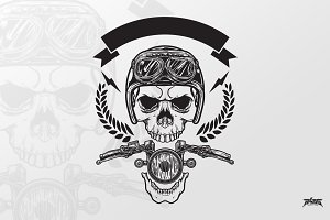 Bikers Skull Ornament
