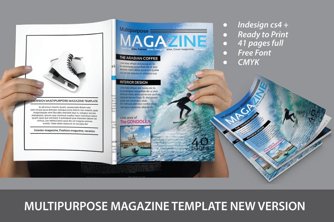 Multipurpose Magazine Template Magazine Templates Creative Market