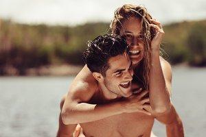 Couple enjoying their vacation