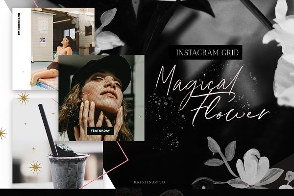 Social Media Templates: Kristina&Co - Instagram Grid & Stories template