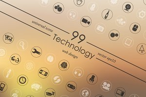 99 technology icons