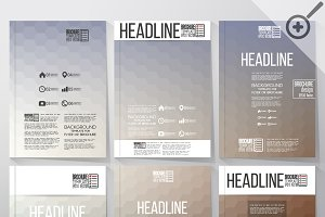 Brochure with hexagonal backgrounds