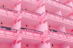 Hotel. Pink minimal vibes