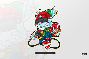 Bunny HipHop Vector