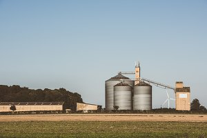 Farm grain silos for agriculture