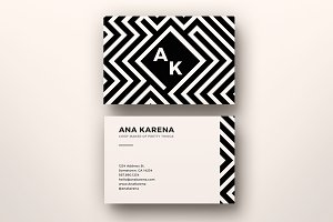 Maze Business Card Template