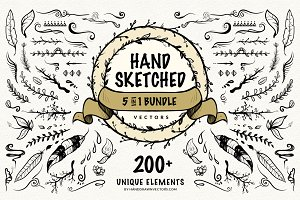 Hand Sketched Vectors Bundle