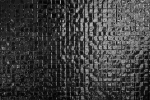 Black mosaic tiles pattern texture b